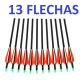 Kit 13 Flechas Fibra De Carbono, Arco Composto/recurvo
