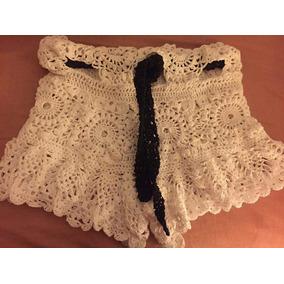 Short De Dama Tejido A Crochet