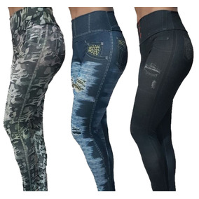 Kit Com 3 Leg Fake Imita Jeans - Promoção Revenda