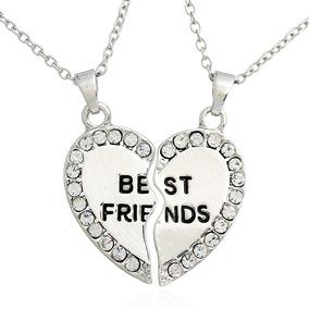 Collar Corazón Partido Best Friend Mejores Amigos Envío Incl