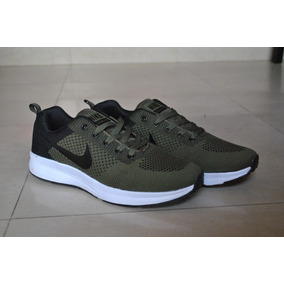 Kp3 Zapatos Nike Air Zoom Verde Negro Para Caballeros