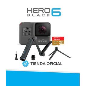 Camara Gopro Hero 6 4k Go Pro Combo 32 Gb Baston 3 En 1