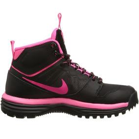 Botas Nike Dual Fusion Hill Mid H2o Repelente Negro Y Rosado