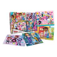 4 Puzzles Rompecabezas Disney Minnie Vampirina Nena Juguete