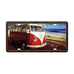 Placa Decorativa Placa De Carro Kombi Praia - Cia Laser