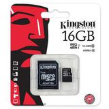 Tarjeta De Memoria Micro Sd Kingston 16 Gb Clase 10