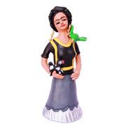 Frida De Barro Policromado. Alfarería Y Cerámica, Aripo