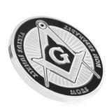 Moneda Freemason Plateada Medalla Masónica Envío Gratis