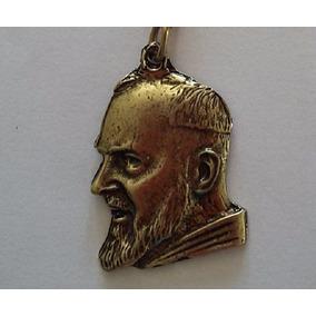 15 Chaveiros Imagem São Padre Pio Em Metal Banho Ouro Velho