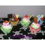 Chaveiro Cupcake De Silicone Pingente De Celular