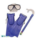 Snorkel E Mascara Com Nadadeira Kit De Mergulho Infantil