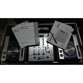 Case Com Par Cdj Pioneer 200 + Mixer Behringer 626