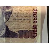Billete De 100 Pesos - Serie U - Falla Impresion - Año 2012