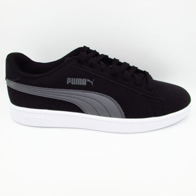 Tenis Puma Smash V2 Buck 365160 01 Black Shade Negro