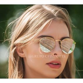 Óculos Redondo round Espelhado + Brinde. De Sol Ray Ban - Óculos no ... f5d08312ef
