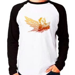 Camiseta Rakan League Of Legends Lol Raglan Manga Longa