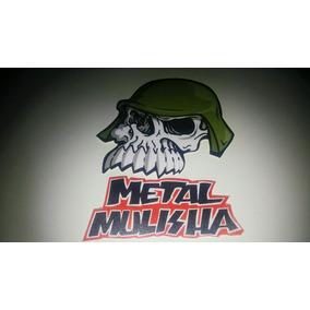 Calco Moto Stiker Metal Mulisha Calavera Y Letras Tunning