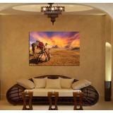 Cuadro Egipto Piramides Camellos Cielo Sol Desierto 40x60cm