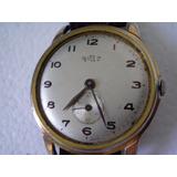 Reloj Delbana Dial Blanco Suizo 37 Anda Plk Oro Tressa Omega