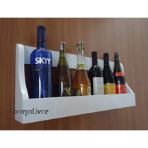 Prateleira Adega Suporte Decorativo Vinhos E Bebidas Branco