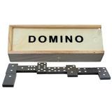 280 Dominos De Madera 15 Cm Y Fichas Negras De 3.7 Cm