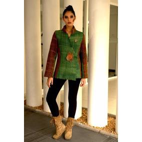 Moda Mujer Abrigos Lana Oveja Telar Colorvegetal