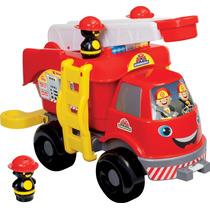 Brinquedo Caminhão Bombeiro Grande C/ Som Mercotoys| Kitbag