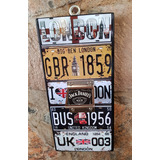 Londres Placas Cuadro Destapador Cartel Vintage Big Ben Uk