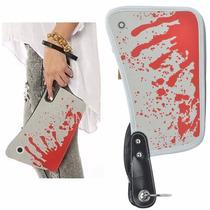 Bolsa Clutch De Mano En Forma De Machete Con Sangre