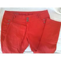 Pantalon Casual Para Damas Rojo Marca Salvaje Real