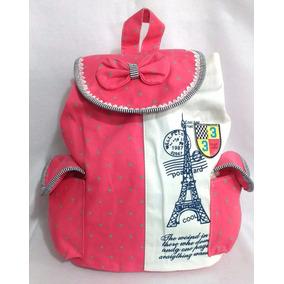 Mochila Paris Torre Eiffel Backpack Azul O Rosa