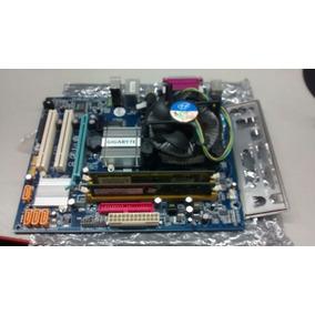 Kit Placa Mãe Gigabyte Ga-945gcm-s2c Ddr-2 2g +core2 6320