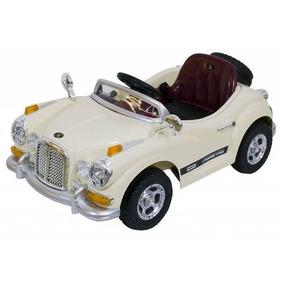 Carro Eletrico Retro Antigo Creme Com Controle Remoto 12v