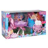 Mattel Y6382 Barbie Mariposa Pegasus Horse And Carriage