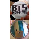 Megaespejo Espejo Boton Bts 9cm Logo Negro Kpop Coreano