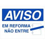 Placa De Aviso - Vinil Autoadesivo - 35,0cm X 25,0cm