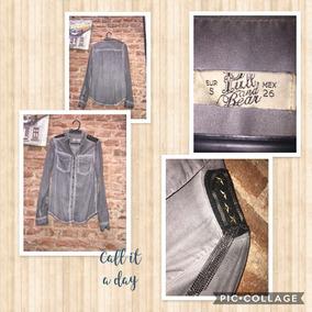Camisa Pull & Bear Gris