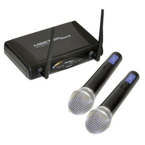 Sistema Profesional De 2 Microfonos Inalambricos Uhf