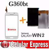 Tela Touch + Display Lcd Galaxy Win2 G360 Bt Branco Original