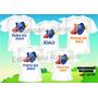 Camiseta Aniversario Personalizadas Procurando Nemo C/6
