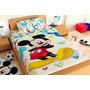 Edredon+juego De Sabanas Individual Disney Mickey Minnie