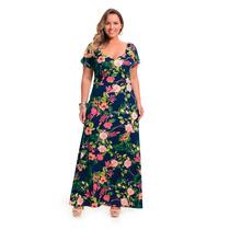 Vestido Dia Dos Namorados Plus Size Longo Floral