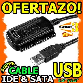 Wow Cable Convertidor Ide Sata Usb Para Pc Laptop Disco Duro