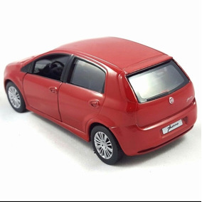 Carro Miniatura Metal Fiat Punto Vermelho
