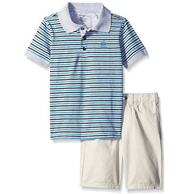 Conjunto 2 Piezas Niño Calvin Klein Bermuda Polo Original