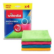 Paño Microfibra Multiuso Vileda Pack 4un De Colores