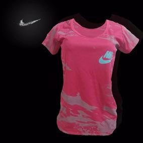 Franelas Camuflajeadas Nike Para Damas Tela Drifit