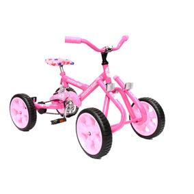 Cuatriciclo Rosa Suspensión Pedal A Cadena Kids Casa Valente