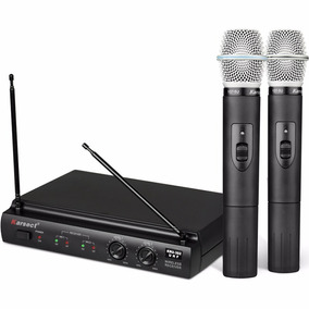 Microfone Sem Fio Profissional Karsect Kru302 À Pilhas Aa