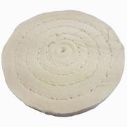 Roda De Pano De Polir E Lustrar Algodao Branca Diametro 6